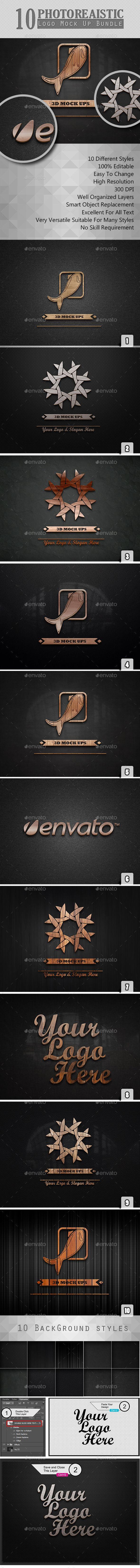 Photorealistic Logo Mock Ups Set 2
