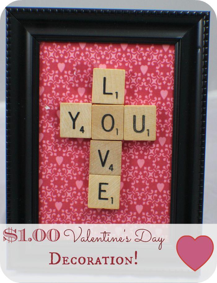 Valentine's Day Scrabble Tile Message Frame!