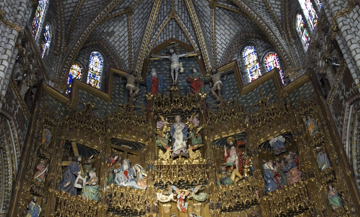 High Altar (top). Toledo Cathedral - Spain
