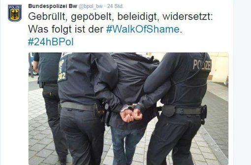 Bundespolizei twittert aus Stuttgart: Die besten Tweets unter #24hBPol - Cannstatter Volksfest - Stuttgarter Zeitung
