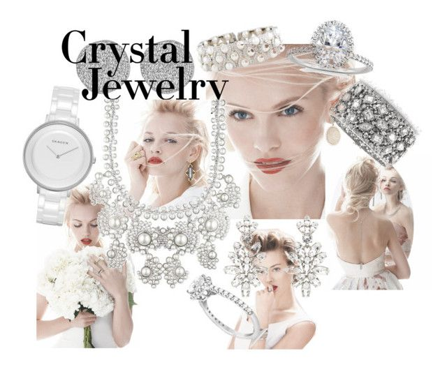 """""""crystal clear"""" by fashioncopasser ❤ liked on Polyvore featuring Karen Kane, GINTA, Mark Broumand, Waverly, Givenchy, Oscar de la Renta and Skagen"""
