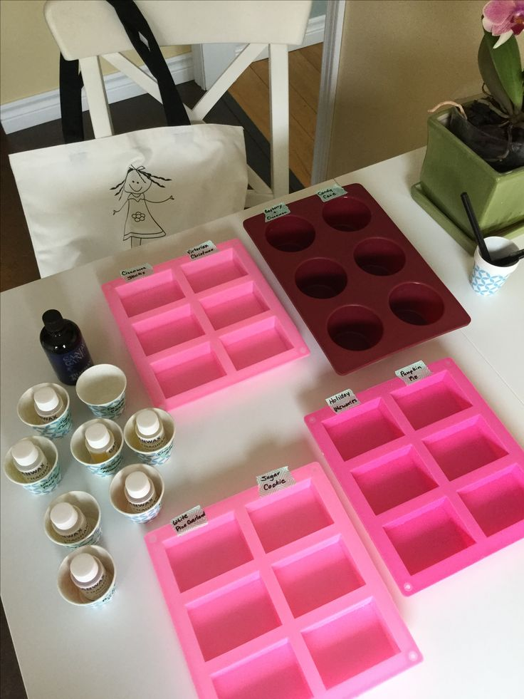 Preparing Holiday Soap Fragrance Samples.