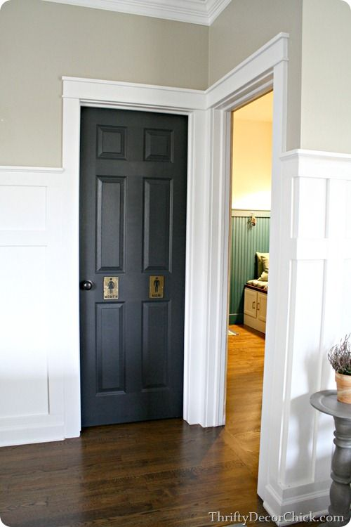 170 Best Images About White Trim Black Doors On Pinterest
