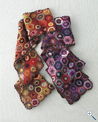 crochet scarf hexagon = inspiration