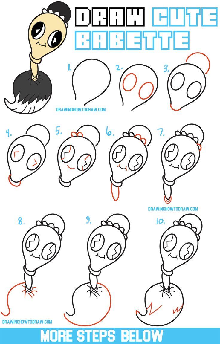 easy draw step drawing chibi kawaii tutorial disney drawings beast beauty babette tutorials beginners cartoon characters drawinghowtodraw simple character sketches