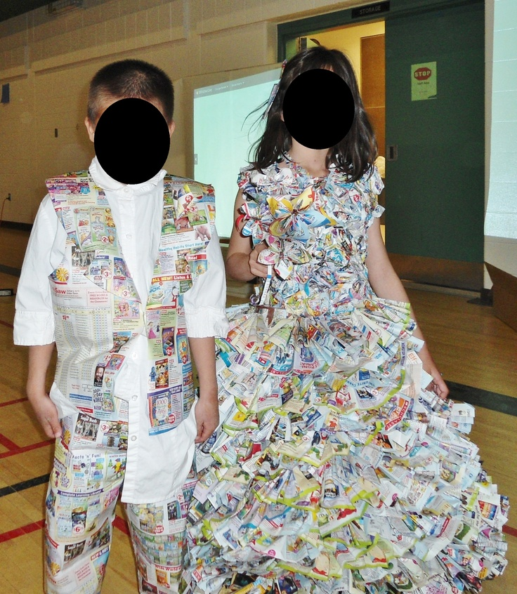 Trashion Show Outfits made from Book Orders