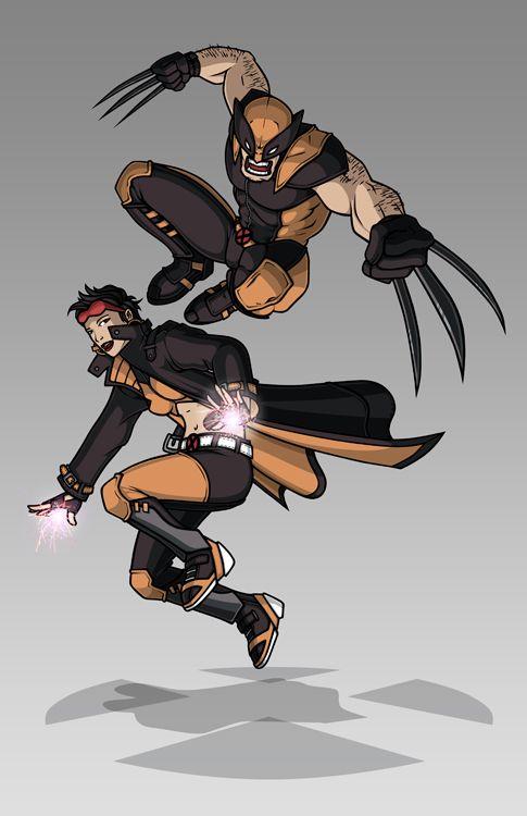 X-men Costume Redesign: Wolverine and Jubilee by Hiroki8 on DeviantArt