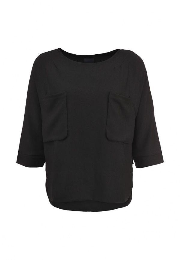 Блуза Ichi женская. Цвет: черный. Сезон: Весна-лето 2014. С бесплатной доставкой и примеркой на Lamoda. http://j.mp/1nM5dsd