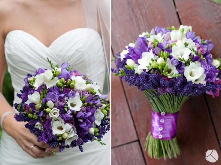 Purple Wedding Bouquet  Portfolio | Zukistudio