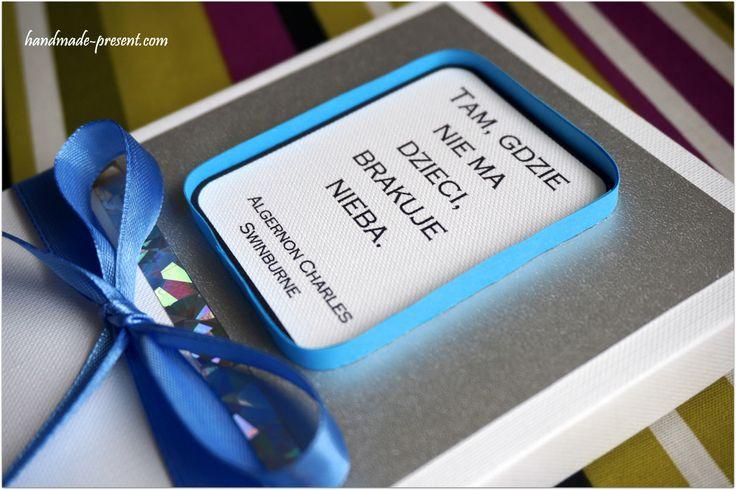 Kartka z pudełeczkiem na Chrzest Święty - Handmade Present