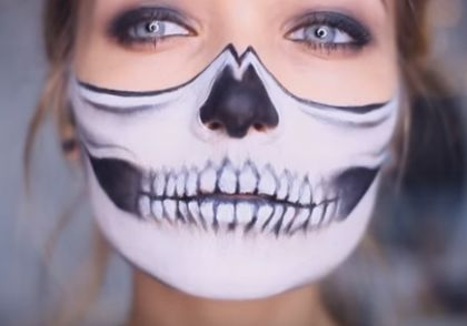 We tried out the popular skull mask Halloween makeup tutorial so you don't have to. See the photos here!