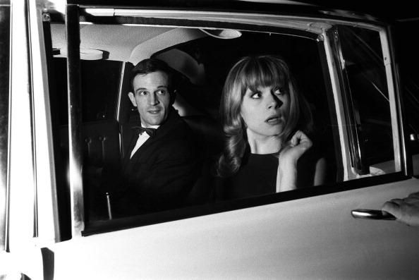 CANNES, FRANCE - MAY 1964: Francois Truffaut and Francoise Dorleac at the Cannes Film Festival on May, 1964 in Cannes, France. (Photo by REPORTERS ASSOCIES/Gamma-Keystone via Getty Images)