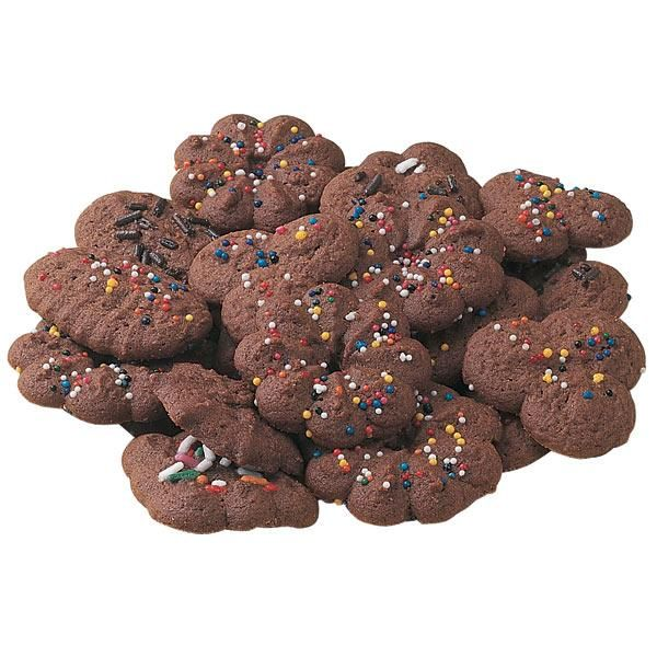Chocolate Spritz Cookies - Cookie presses require the right consistency of dough to produce those pretty shapes. Our Chocolate Spritz Cookies recipe lets you fill and press without problems.