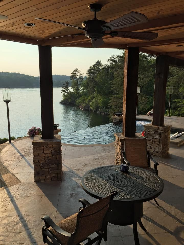 Ashville plan with an infinity pool coming off the lower deck!