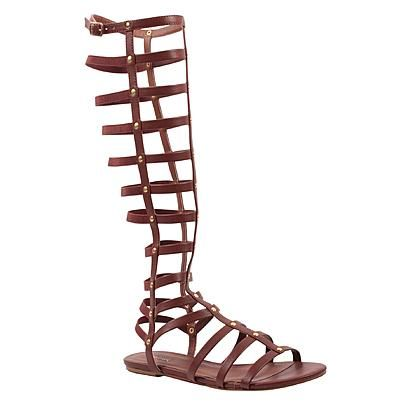 Wanted Women's Ares Brown Tall Gladiator Sandal