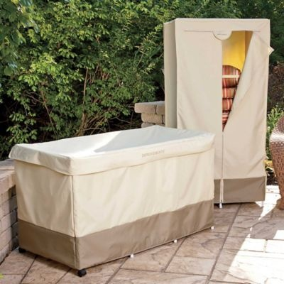 Outdoor Cushion Storage with Cover Fall Cleanup