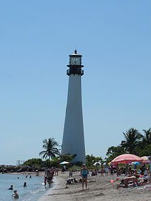 The Cape Florida Light marked a reef four miles off the south end of Key Biscayne shore, and still marks the Florida Channel, the deepest natural channel into Biscayne Bay.