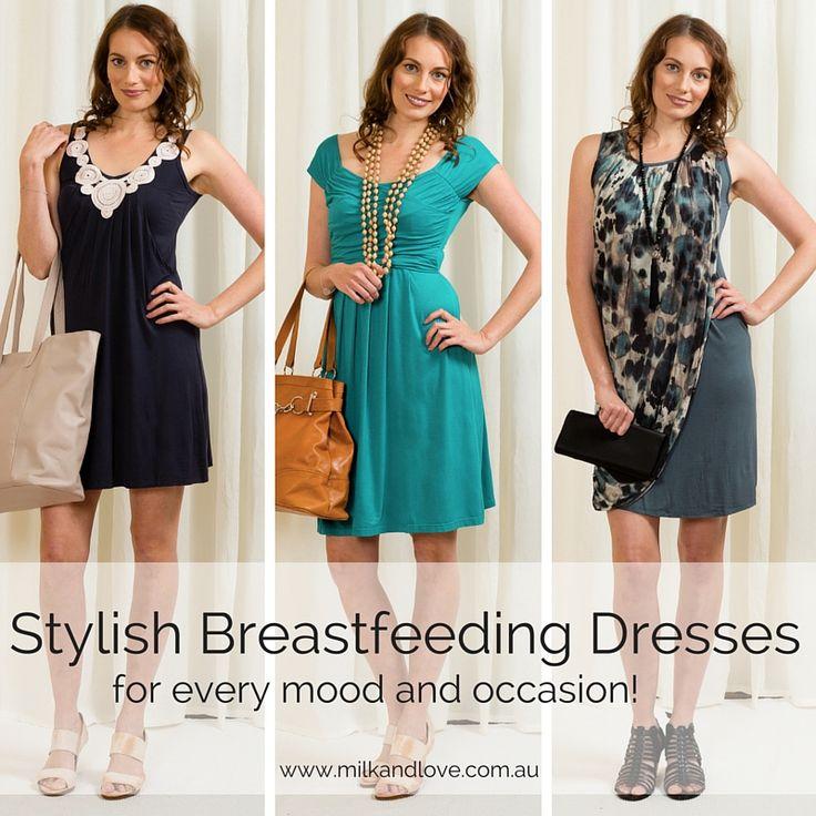 Stylish breastfeeding dresses in bamboo, modal and organic cotton