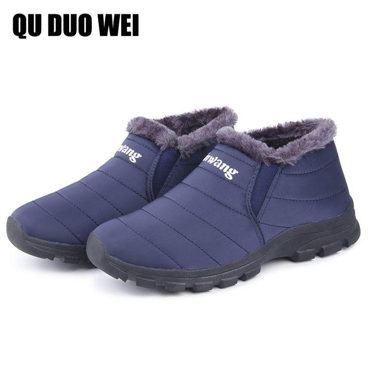 Plus Size 35-44 Winter Shoes Waterproof Men Ankle Boots For Men Cozy Warm Fur Inside Snow Boots Lightweight Men Rain Boots