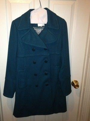 Teal Double Breasted J by Jasper Conran Debenhams Jacket Coat Sz UK 8 US 4 | eBay$355.00 +$49.70 internationat shipping price