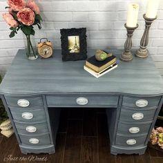 escritorio Hepplewhite cambio de imagen elegante lamentable, muebles pintados, elegancia lamentable