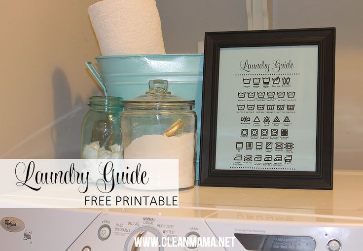 Wondering what the heck all those random symbols mean on your clothes and how to care for them? Print out this FREE printable and post in your laundry room.