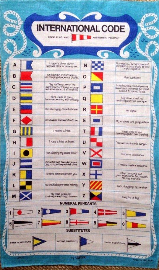 International Code Flag Tea Towel