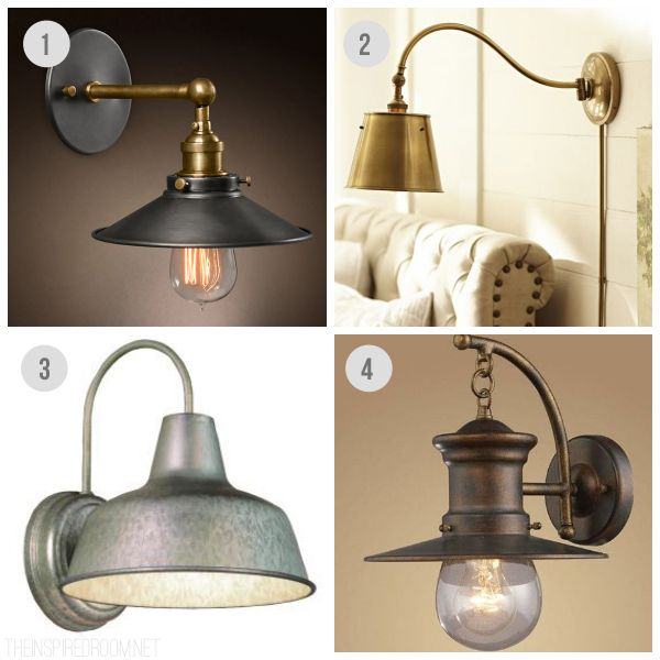 Wall Sconces Over Kitchen Sink : Wall Sconces - The Inspired Room Industrial Lighting Sources Inspiration for the Home ...