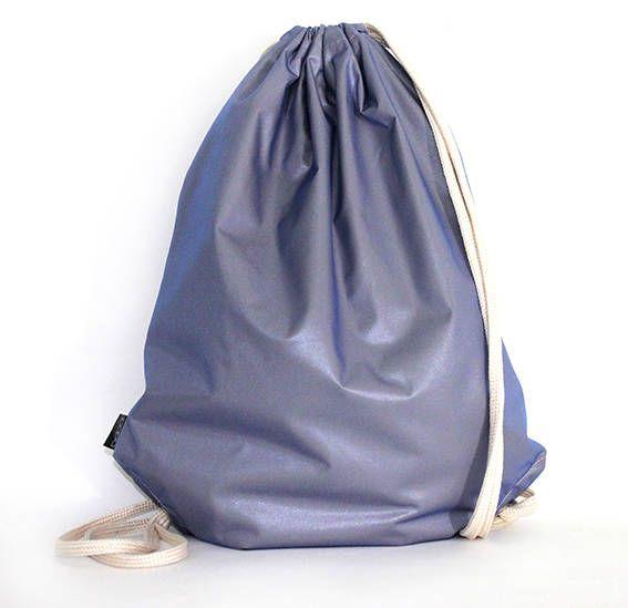 El3ctric Blue  waterproof drawstring bag backpack by PopaStore on Etsy