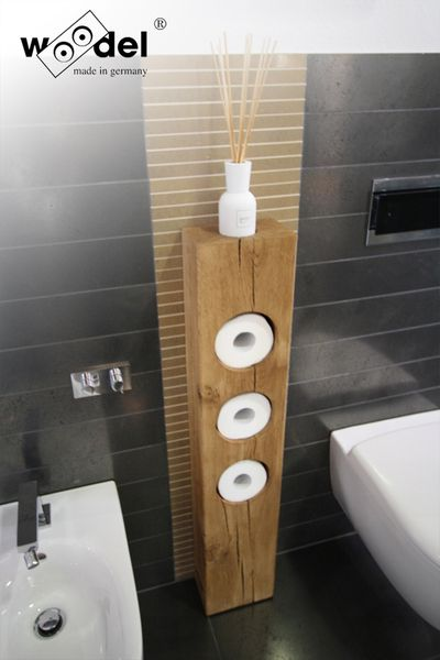 LOVE this - modern rustic toilet paper holder for the bathroom