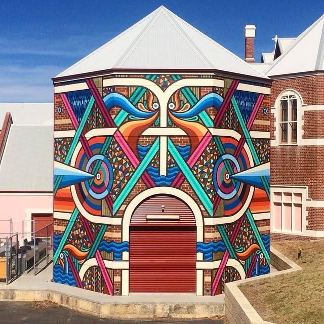 BEASTMAN _ Outdoor Mural at Bunbury Regional Art Gallery, Australia