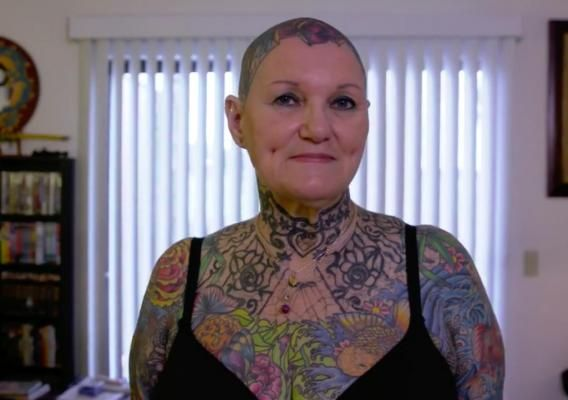 MELBOURNE -- 69-year-old becomes Guinness Book record holder as the world's most tattooed woman. Her partner is the world's most tattooed male senior citizen. (Feb 2018)