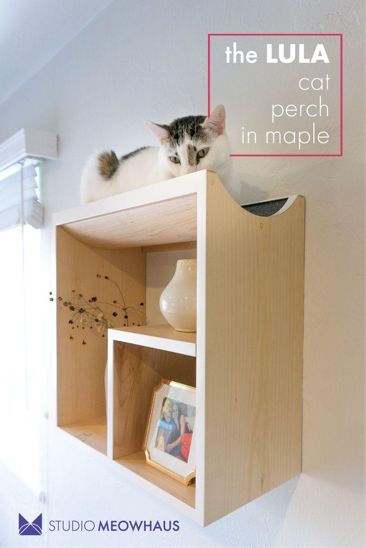 the LULA floating cat shelf is as elegant as it is cozy. A