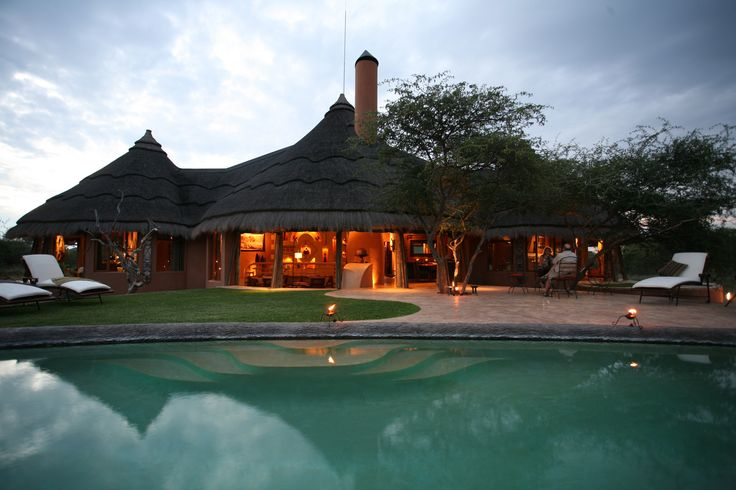 The secluded Bush Suite offers guests privacy and your own  pool to cool off after a morning or afternoon tracking cheetahs or leopards in the Okonjima Nature Reserve. http://okonjima.com/content/The_Select_Private_Bush_Suite