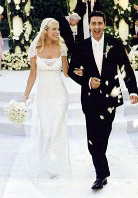 Tori Spelling's wedding in 2004 to Charlie Shanian, she went for a kind of Victorian-Indian-flapper look with tons of intricate beading.