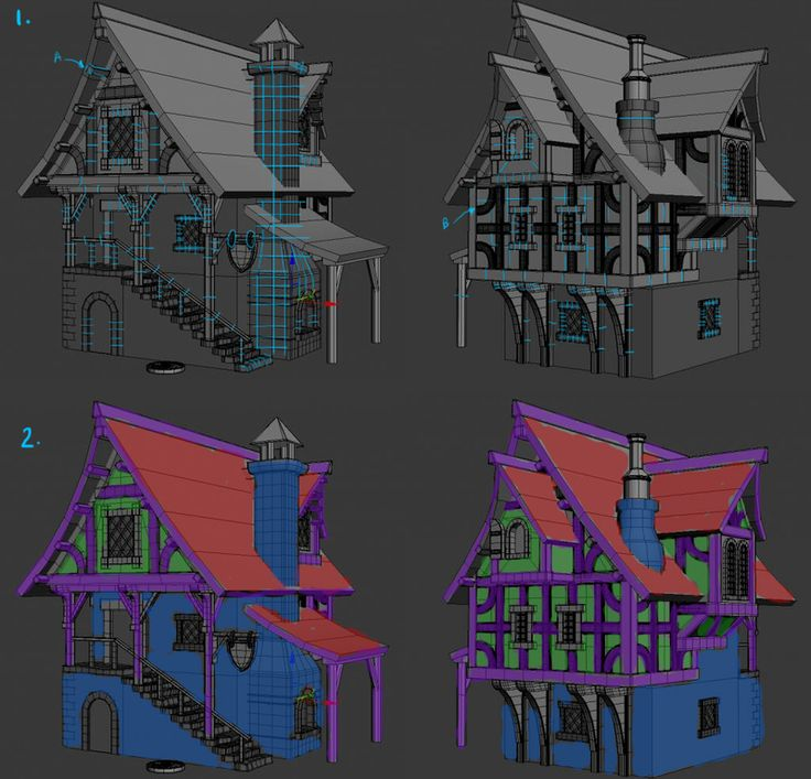 WIP house - need texturing feedback - Polycount Forum