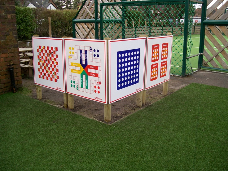 Post Mounted Wall Games Playground Wall Game School