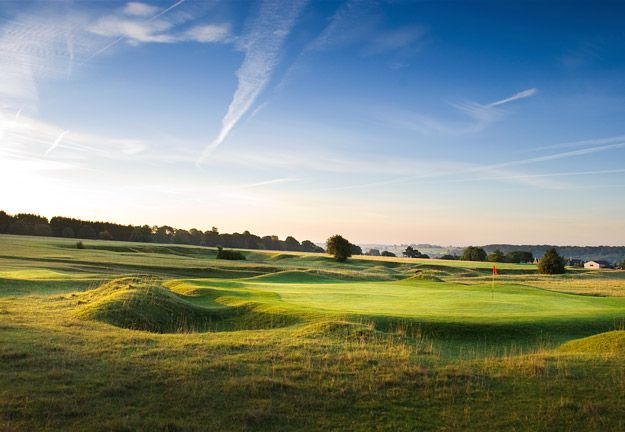 Where I honed my game, Minchinhampton Old Course. Local rule: cow pats are treated as casual water!