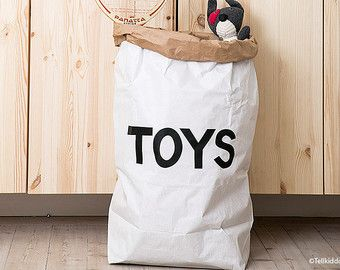 Superhero paperbag storage of toys books or teddy by Tellkiddo