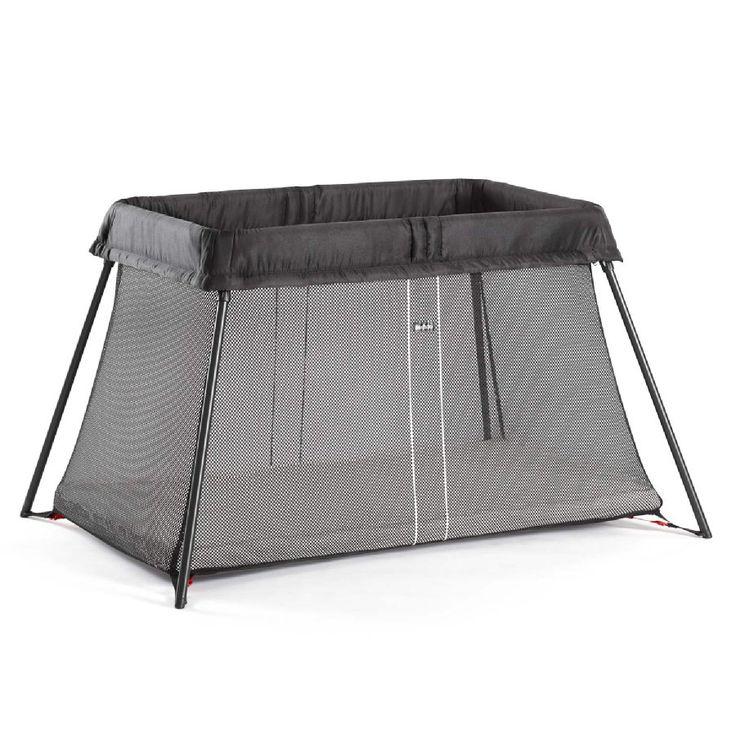 BABYBJÖRN Lit parapluie Light, noir, avec matelas - Paiement sécurisé ✓ Livraison offerte dès 40€ ✓ Expédition 2-4 jours ✓