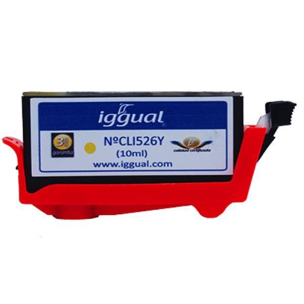iggual Recycled Ink Cartridge Canon CLI526Y yellow1,57 €