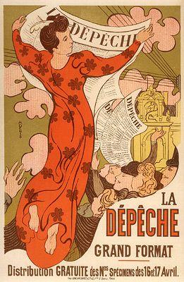 """Denis, Maurice - PL. 140 - """"La Depeche de Toulouse"""" - at the Detroit Institute of Art"""