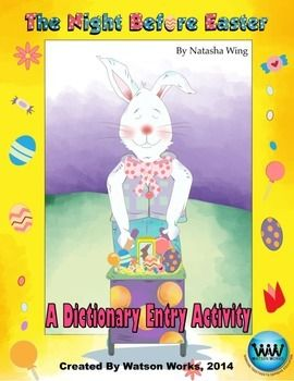 ONLY 75¢!! This dictionary entry activity accompanies the book The Night Before Easter by Natasha Wing. It offers a fun, educational activity to do around Easter.  We hope you enjoy our product, and Happy Easter! :)