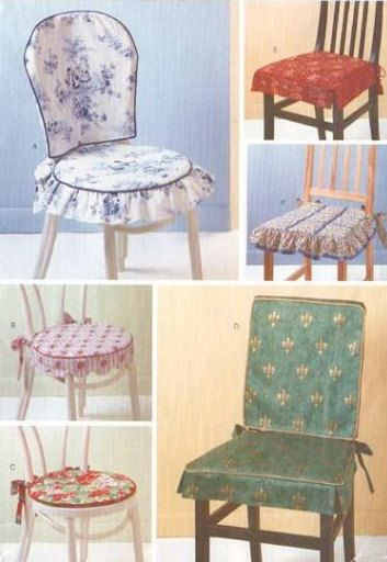 Chair covers amp pads sewing pattern dining room kitchen chairs oop