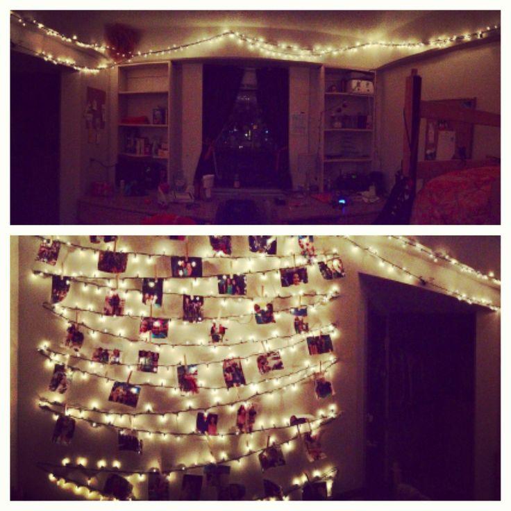 Dorm Room Decor #dorm #lights Collegiate Madness Pinterest Part 36