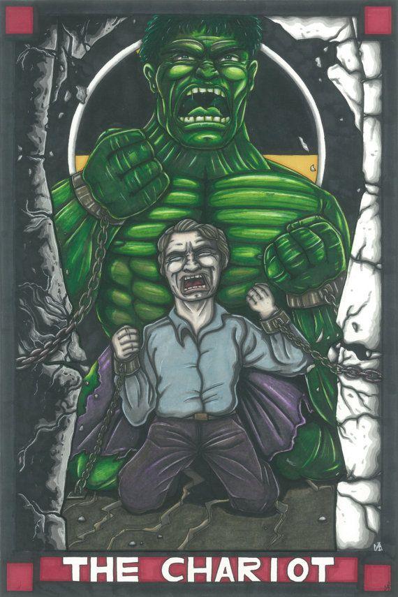 MARVEL Tarot Hulk Postcard PRINT By MaiafirePrints On Etsy