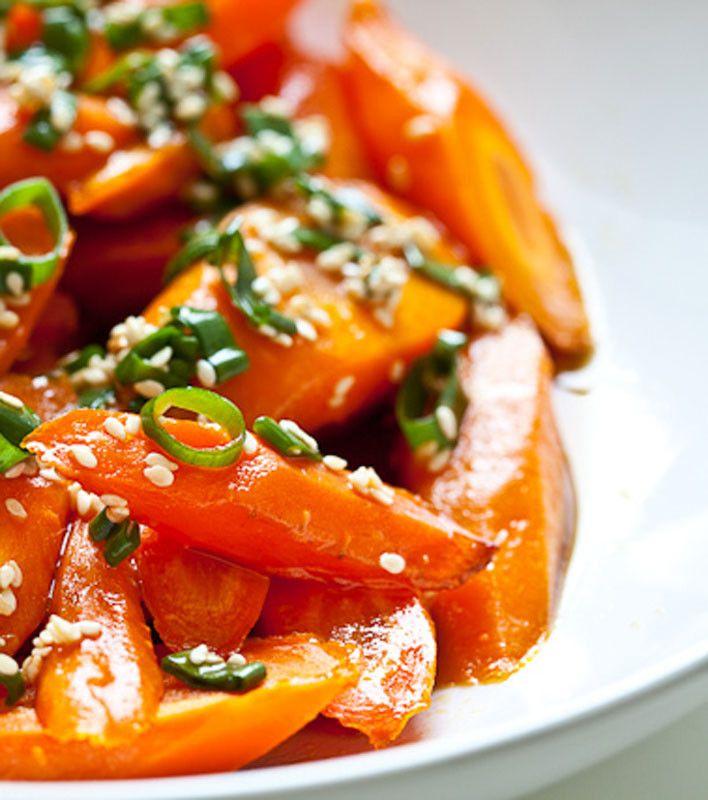 Roasted Carrots with Sesame Ponzu Vinaigrette: Cups Lemon, Vinaigrette ...