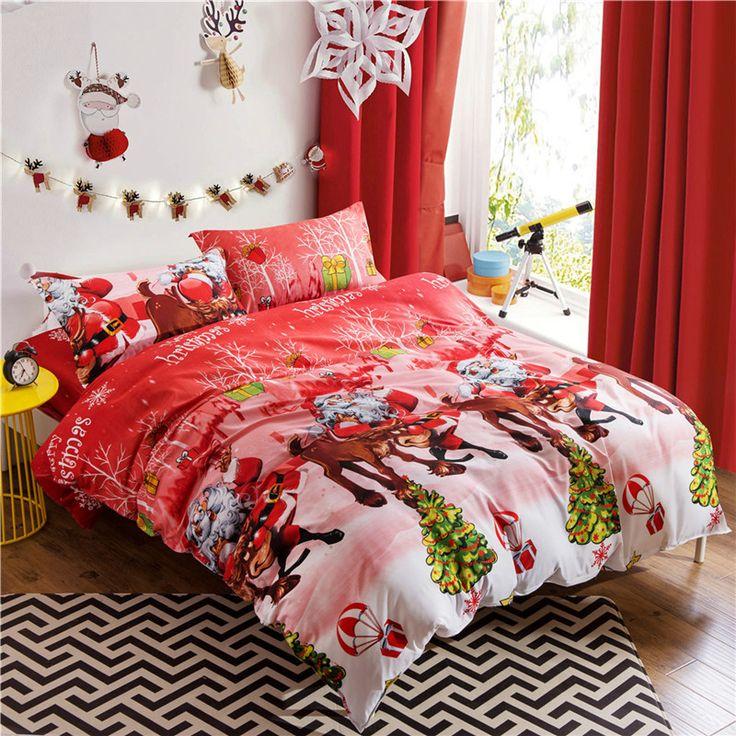 new arrival marry christmas duvet cover santa claus decoration bedspread bedding sets queen size duvet