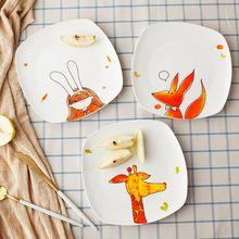 De dibujos animados De Cerámica Occidental Plato de Carne Placa Dumpling Japonés Creativo Lindo Plato de Fruta Plato de Postre Utensilios Casa(China (Mainland))