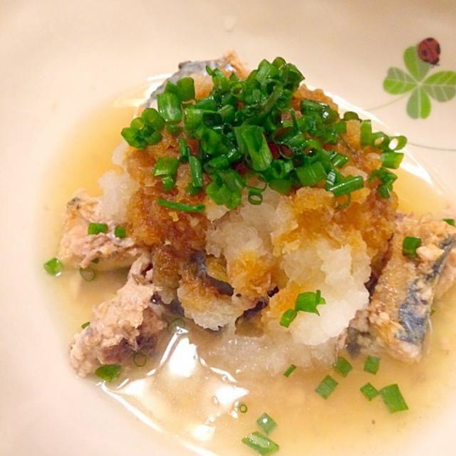 大根は葉っぱに近い部分を使いました。 - 10件のもぐもぐ - 鯖水煮缶の大根おろし和え by komatsudaiBiO